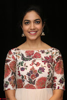 Ritu Varma smiling face Cream Anarkali dress at launch of OPPO New Selfie Camera F3 ~  Exclusive 021.JPG
