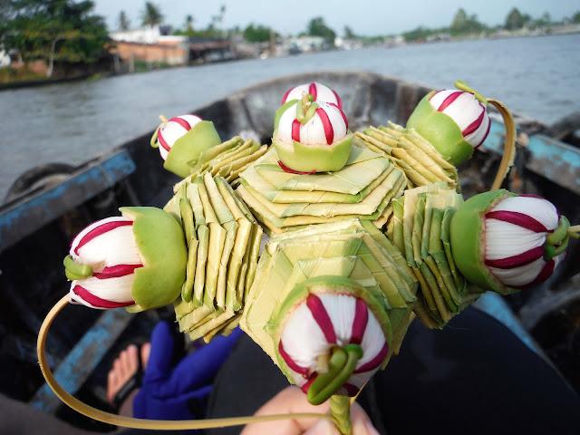 bamboo grass bouquet souvenir mekong delta vietnam