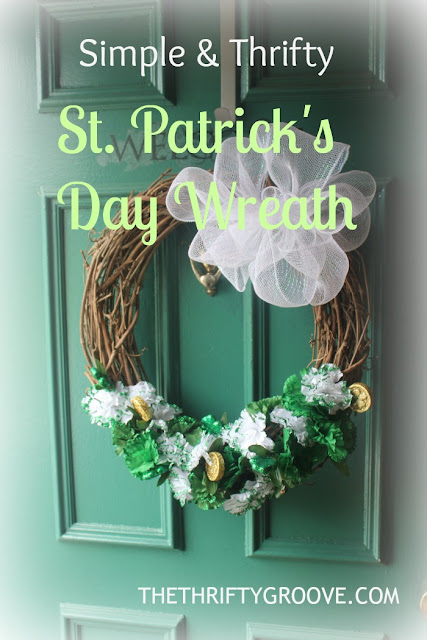 How to make a simple and thrifty St. Patrick's Day Wreath