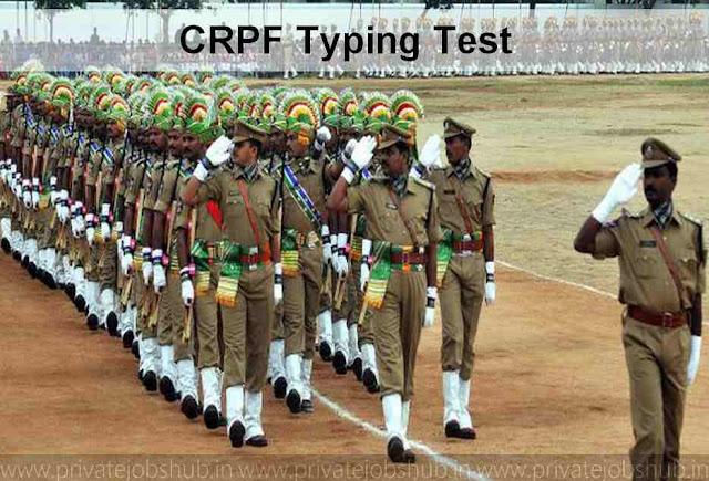 CRPF Typing Test