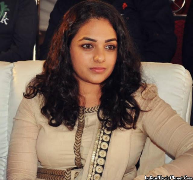actress nithya menon hot tight white salwar stills