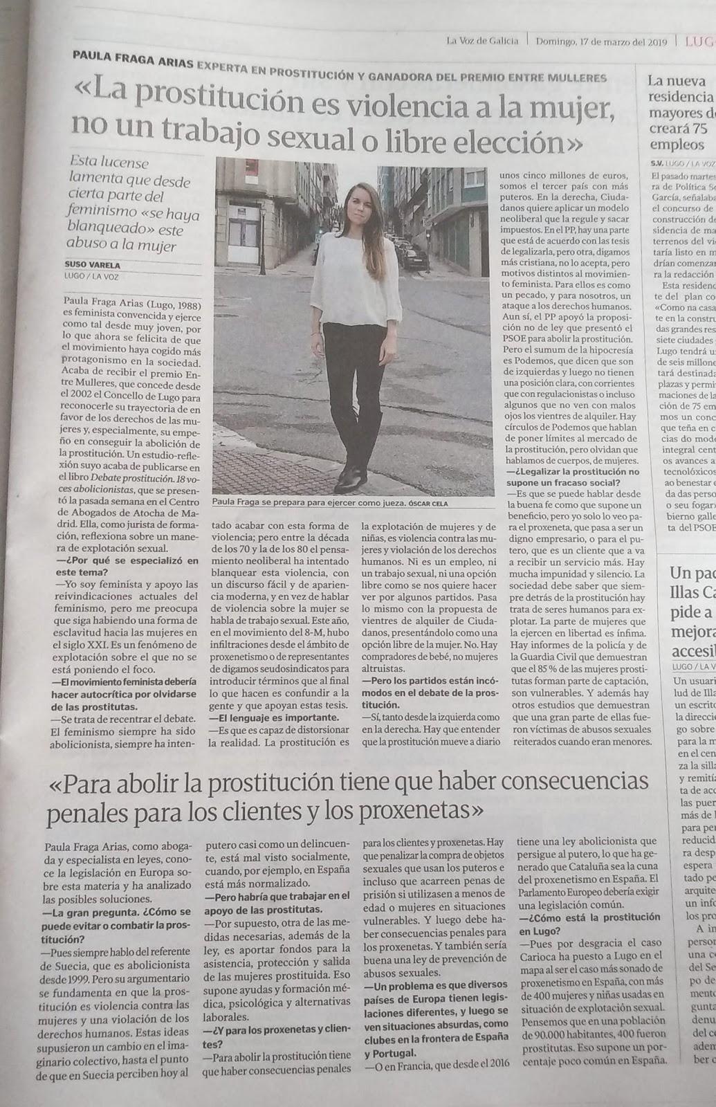 Abolicionismo Del Porno entrevista sobre prostitución.