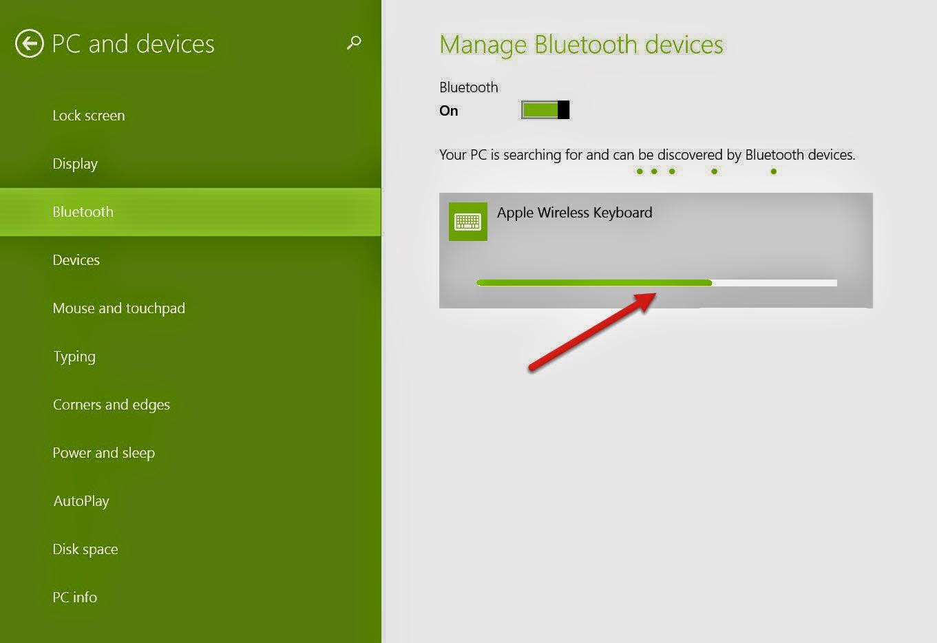 how to add apple wireless keyboard in windows 8 1. Black Bedroom Furniture Sets. Home Design Ideas