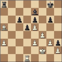 Partida de ajedrez Ribera vs. Palau, posición después de 33…Ta8