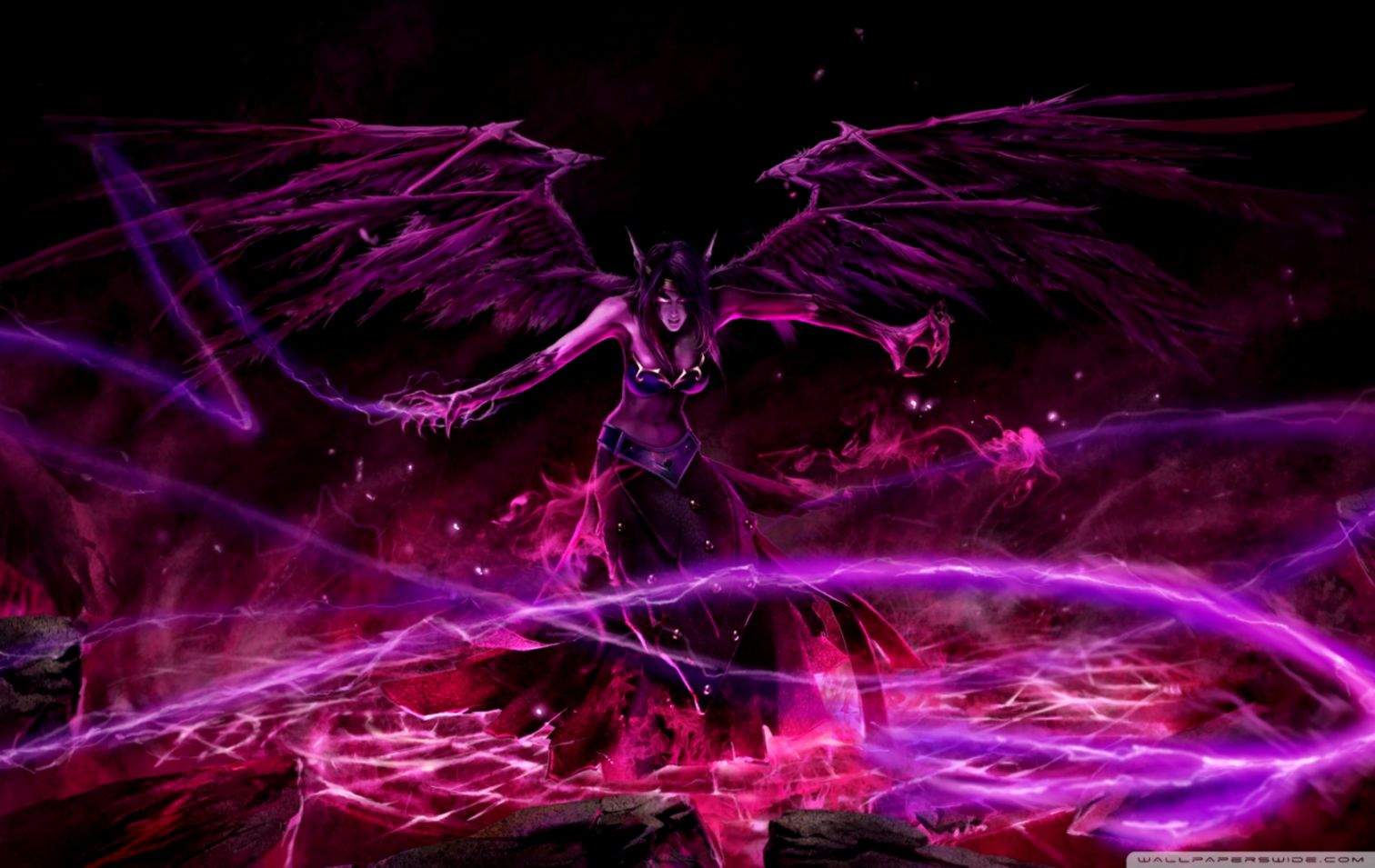 League Of Legends Morgana Black Angel League Wallpaper