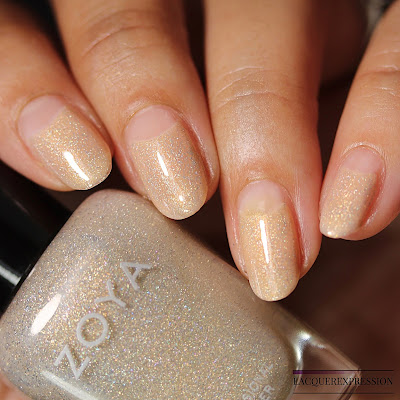 Bridal nail design for natural nails using Brighton over Erika from the Zoya Bridal Bliss collection