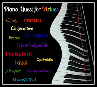 Piano Quest for Virtues Monthly Character Themes - Piano Teaching Incentive Program
