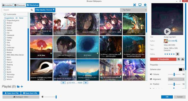Rekomendasi Aplikasi Wallpaper Keren di PC