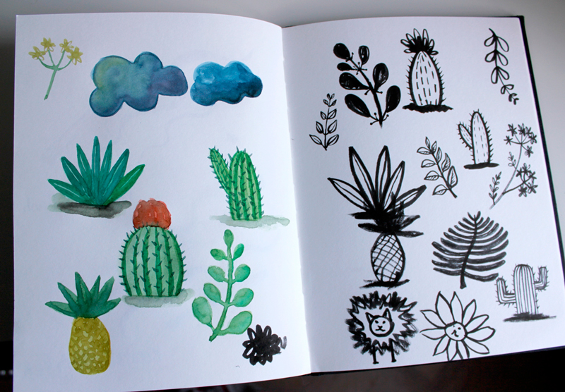 Brush Pen Review - Testing out the pens in my sketchbook