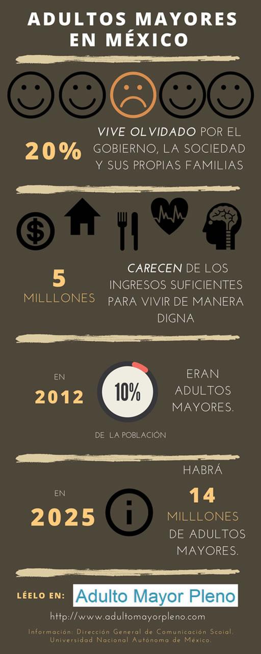 Infografía Adultos Mayores en México.