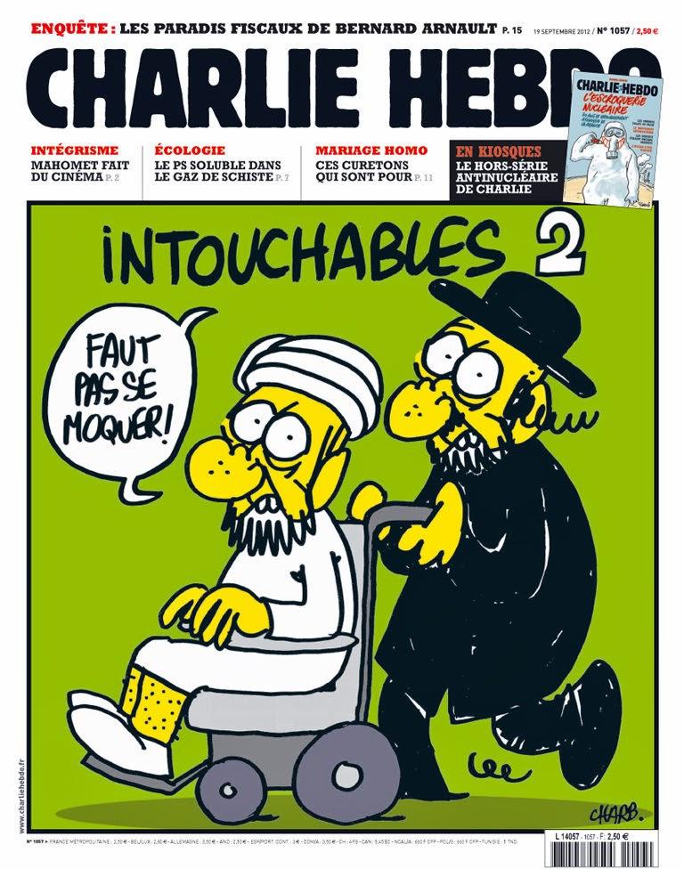 Charlie Hebdo Cover 2012/09/19; Zeichnung: Charb.