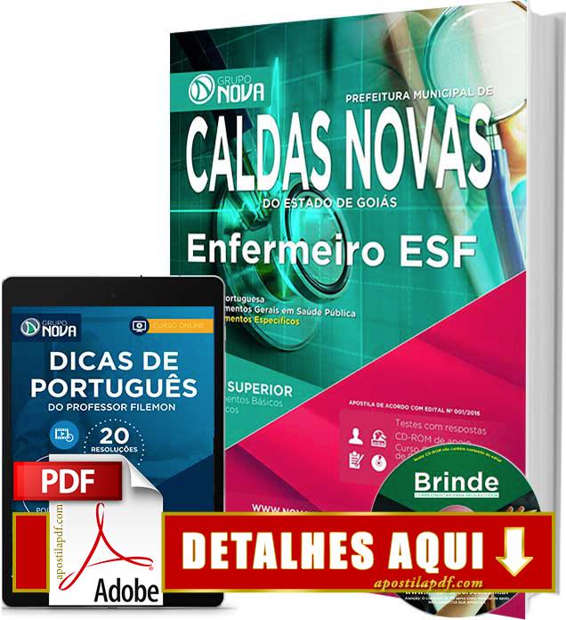 Apostila Prefeitura de Caldas Novas 2016 Enfermeiro ESF Impressa