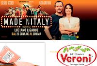 Logo Concorso '' Veroni ti porta al cinema'': vinci 1.000 coppie di biglietti per il film ''Made in Italy''