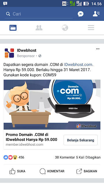 WOW, Promo Domain Murah .COM Hanya Rp 59 Ribu!