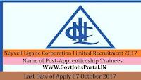 Neyveli Lignite Corporation Limited Recruitment 2017– 436 Apprenticeship Trainees