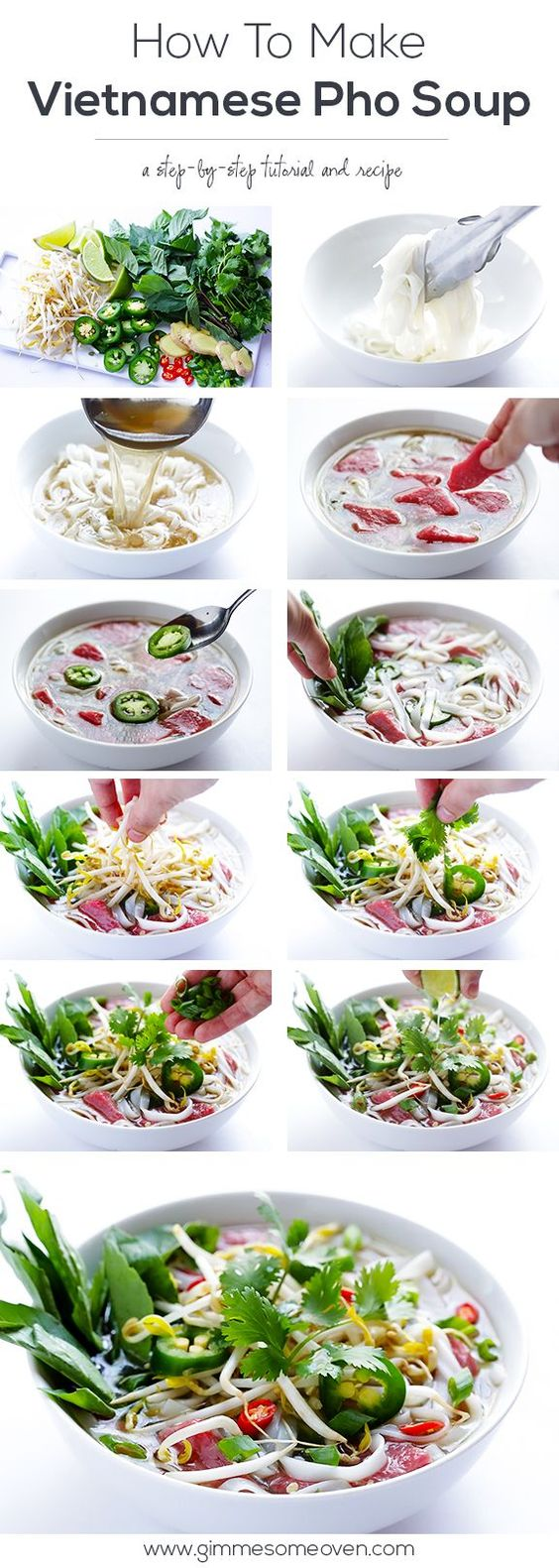If you love Vietnamese Pho Soup, you should try making it homemade! It's so simple!