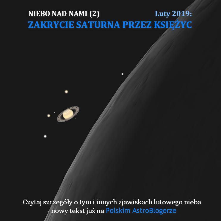 NIEBO NAD NAMI (2) - Luty 2019 - Zakrycie Saturna przez Księżyc