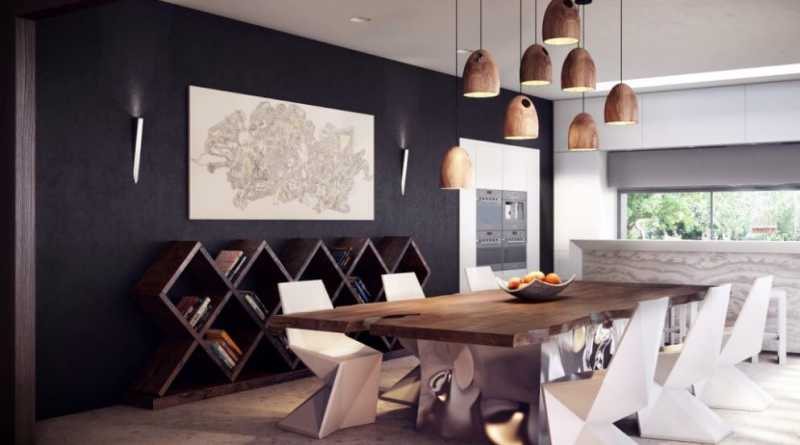 Modern Rustic Style Design For The Kitchen And Dining Room