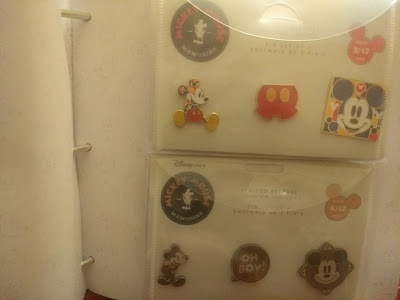 April Mickey Memories pins in the collector book