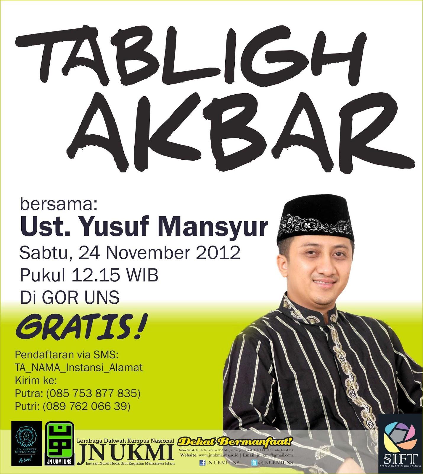 Tabligh Akbar KH Yusuf Mansur Di UNS Surakarta