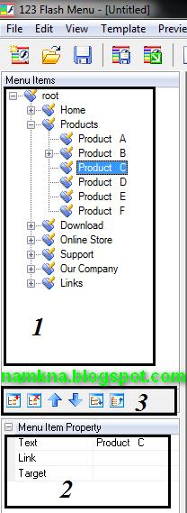Hướng dẫn sử dụng phần mềm 123 Flash menu.