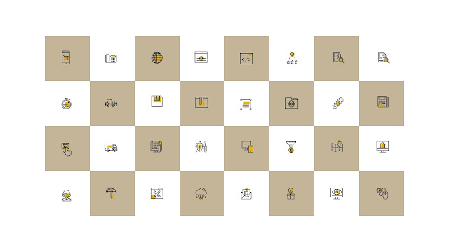 Free 64 Multi Purpose Linear Colored Business Icons for PowerPoint Slide 5