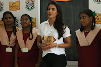 Actress Priya Anand in T Shirt with Students of Shiksha Movement Events 49.jpg
