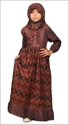 Model Baju Batik Anak Perempuan Muslim