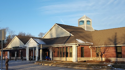 The Franklin Senior Center before the snows hit in February