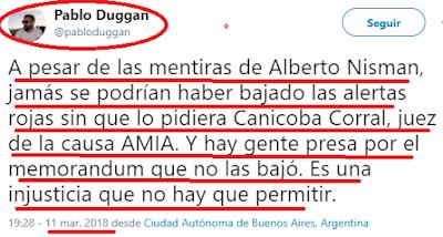Tres tuits del domingo: nisman era un mentiroso