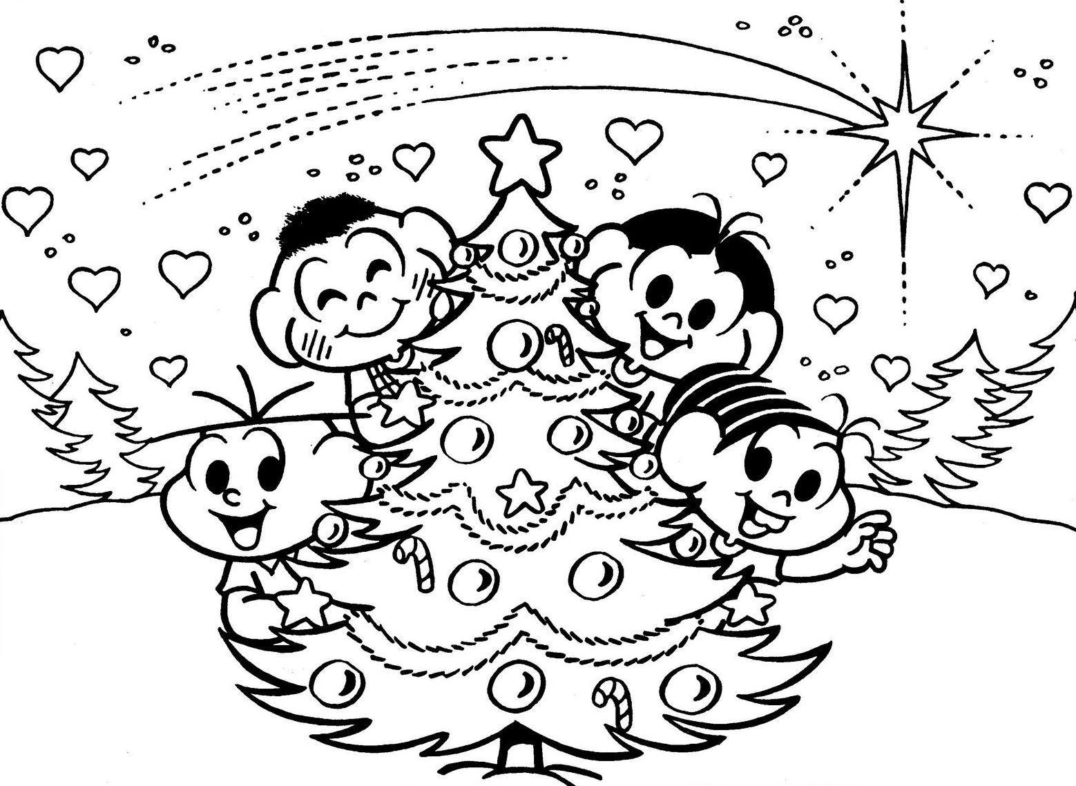Desenho De Arvores De Natal Para Colorir