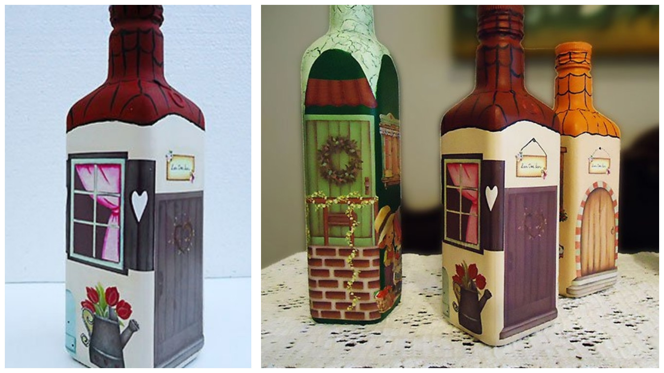 tutorial florero de fieltro reciclando botellas haz click aqu