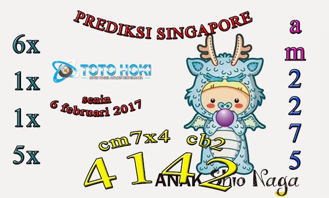 PREDIKSI SGP BOCORAN SINGAPORE HARI SENIN 06 FEBUARI 2017