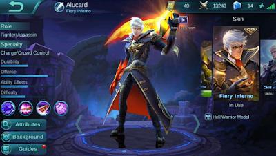 cara menggunakan hero alucard di mobile legends
