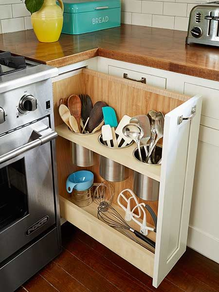 Jika Anda Ingin Benar Memanfaatkan Keterbasan Ruang Yang Sempit Bisa Coba Tempat Penyimpanan Peralatan Dapur Dengan Model Rak