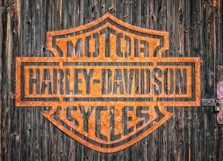 warna oranye, harley davidson, logo harley davidson