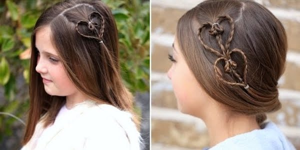 Accent Hearts Hairstyle Video Tutorial The Haircut Web