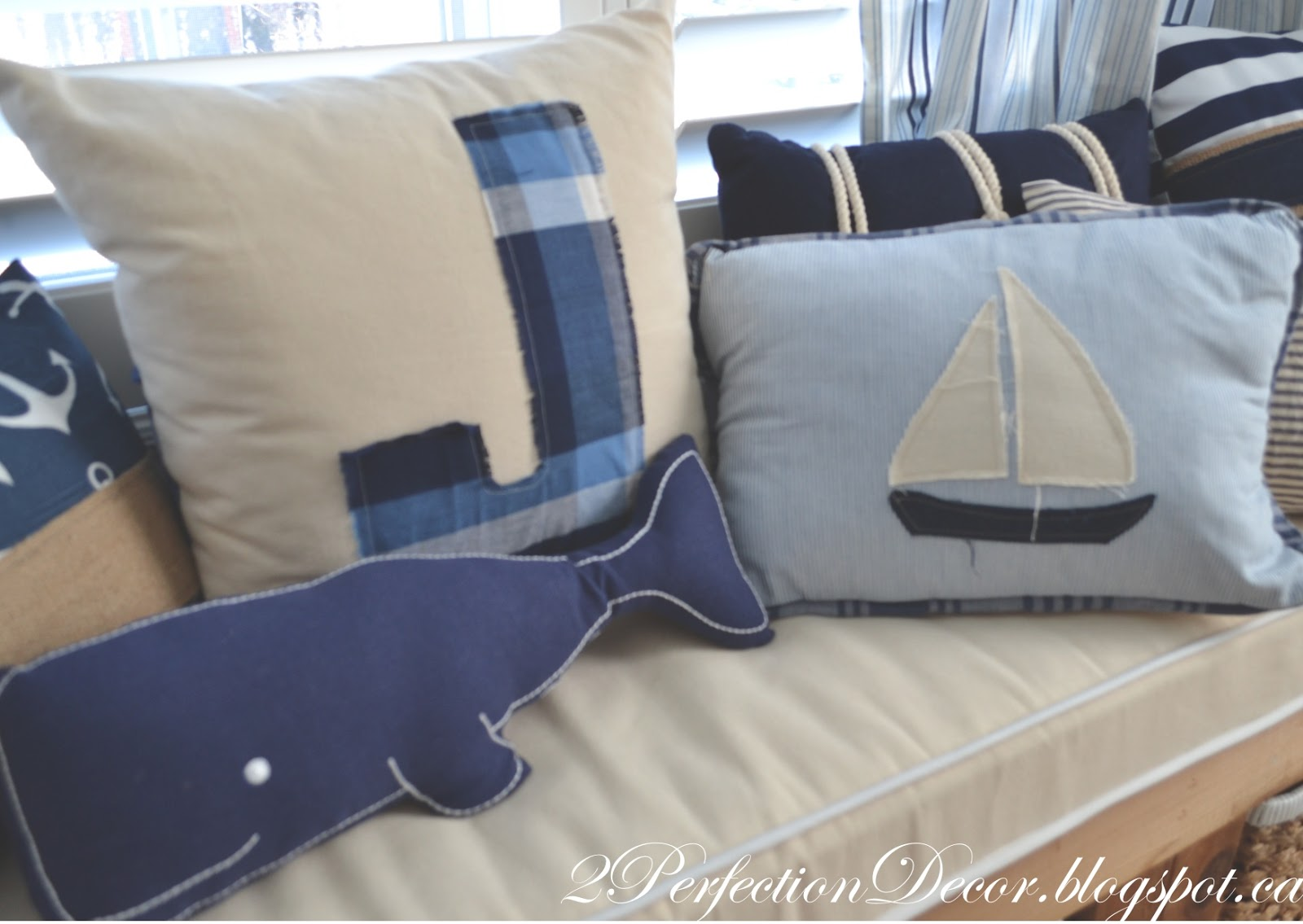 Nautical curtain rod finials - To Keep Up With The Nautical Theme I Got These Great Curtain Rod Finials From Land Of Nod They Are A Rope Style Which Ties In Really With The Rest Of The