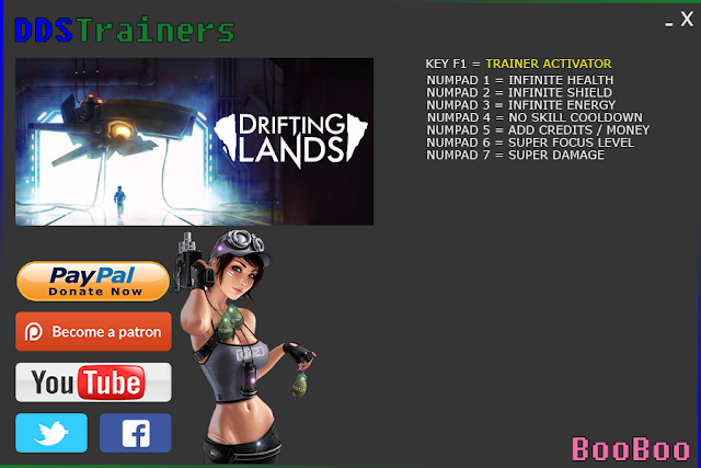 Drifting Lands Trainer