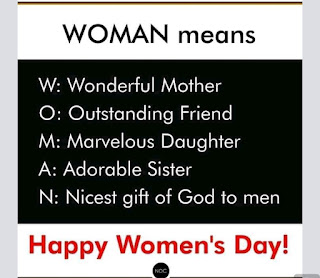 Happy women's day to all the women