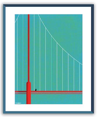 Clod illustration poster Seul sur le pont