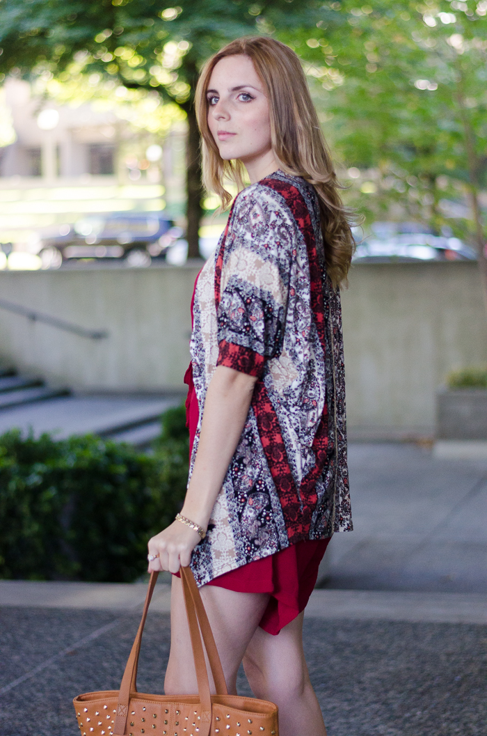 Summer Style Red Romper