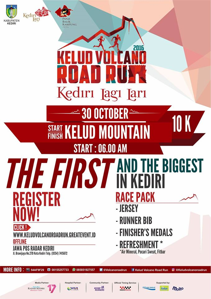 Kelud Volcano Road Run