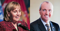 New Jersey could re-enter a regional carbon market. Gubernatorial candidates Kim Guadagno (R) and Phil Murphy (D) both support entering the Regional Greenhouse Gas Initiative. (Credit: Master Sgt. Matt Hecht/U.S. Air National Guard/Flickr; Phil Murphy/Flickr) Click to Enlarge.