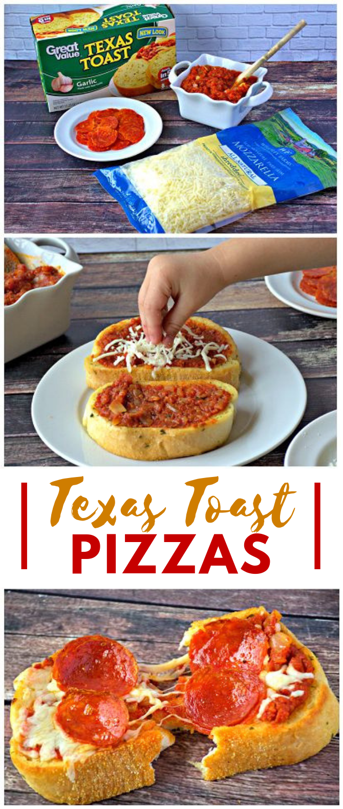 Quick & Easy Texas Toast Pizza Recipe #dinner #lunchidea
