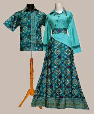 Baju Batik Pesta Muslim Sarimbit