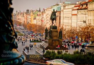 Tempat wisata terkenal di Praha Prague Ceko populer Wenceslas Square Praha Ceko
