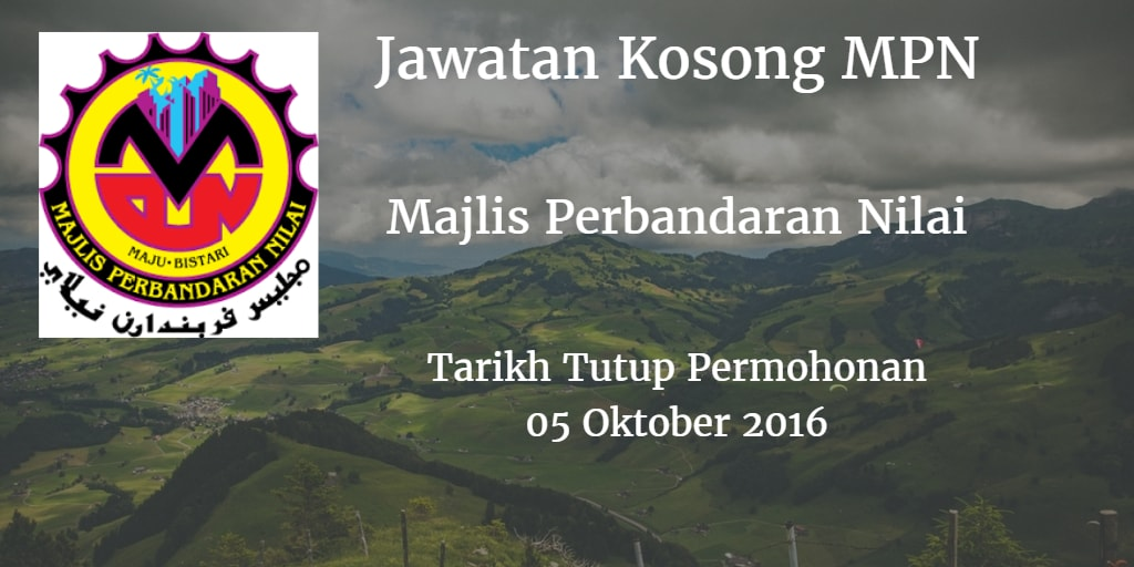 Jawatan Kosong MPN 05 Oktober 2016