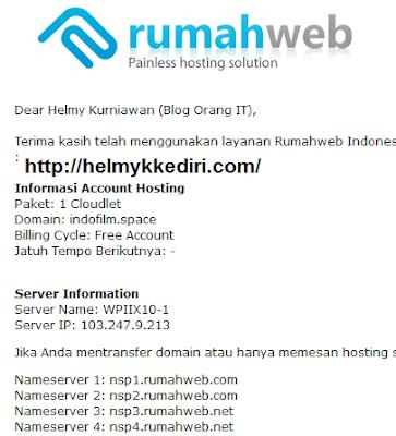 Cara menghubungkan domain kehosting1