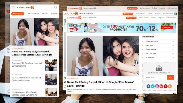 Template Blogger Terbaik 2019 - Kored Id